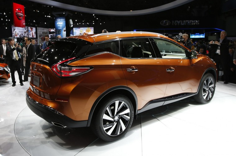 The 2015 Nissan Murano is seen on display after it was unveiled at the New York International Auto Show in New York City, April 16, 2014. (REUTERS/Mike Segar)