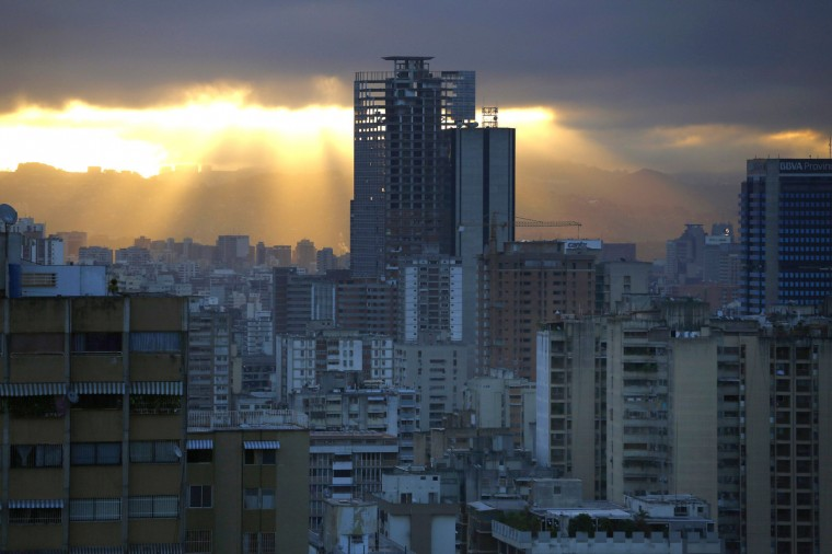 "A skyscraper known as the ""Tower of David"" is seen in Caracas, Venezuela. (Jorge Silva/Reuters)"