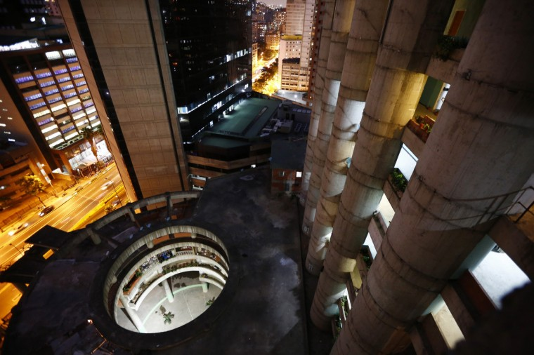 "A view of the lobby from the top of the ""Tower of David"" skyscraper in Caracas. (Jorge Silva/Reuters)"