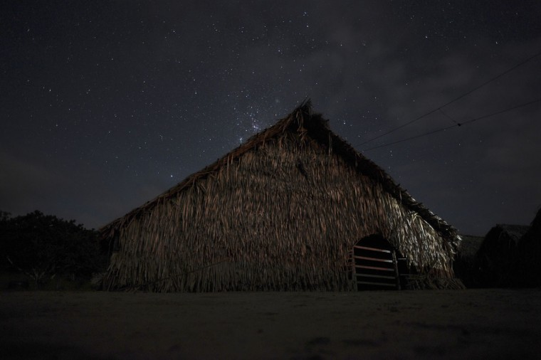A view of the Shubua, or house of prayer, in the Huni Kui tribe's village of Me Txanava in Brazil's northwestern Acre state. (REUTERS/Lunae Parracho)
