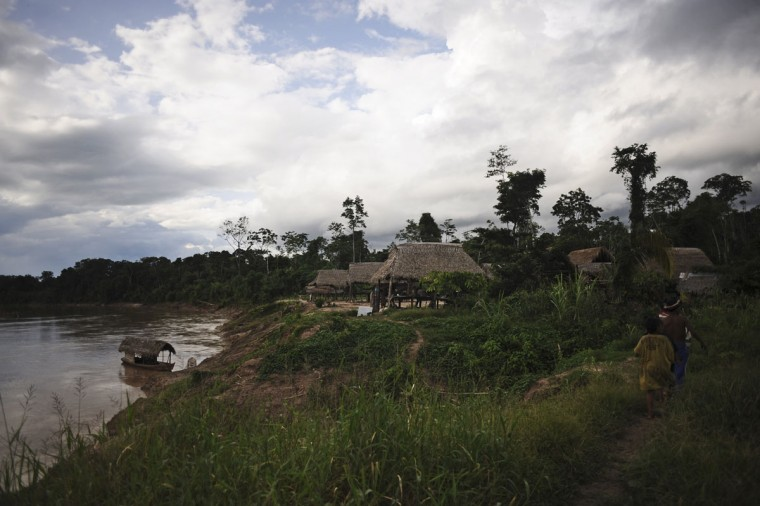A view of the Ashaninka Indian village called Nova Floresta along the Envira river in Brazil's northwestern Acre state. (REUTERS/Lunae Parracho)