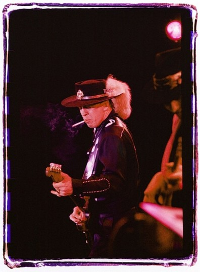 Stevie Ray Vaughan, 1984, Towson. (Photo by Sam Holden)