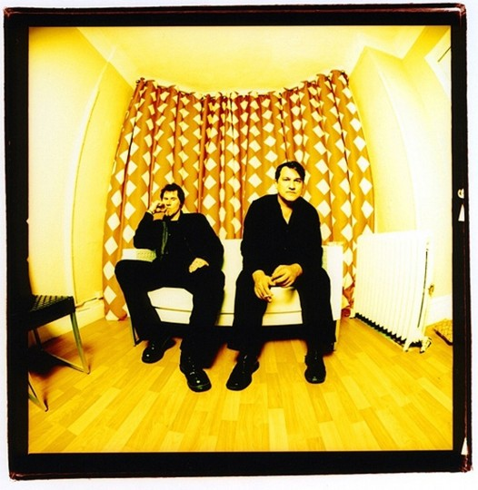 The Gutter Twins, Mark Lanegan and Greg Dulli, 2007 at the Chelsea Hotel in New York. (Photo by Sam Holden)