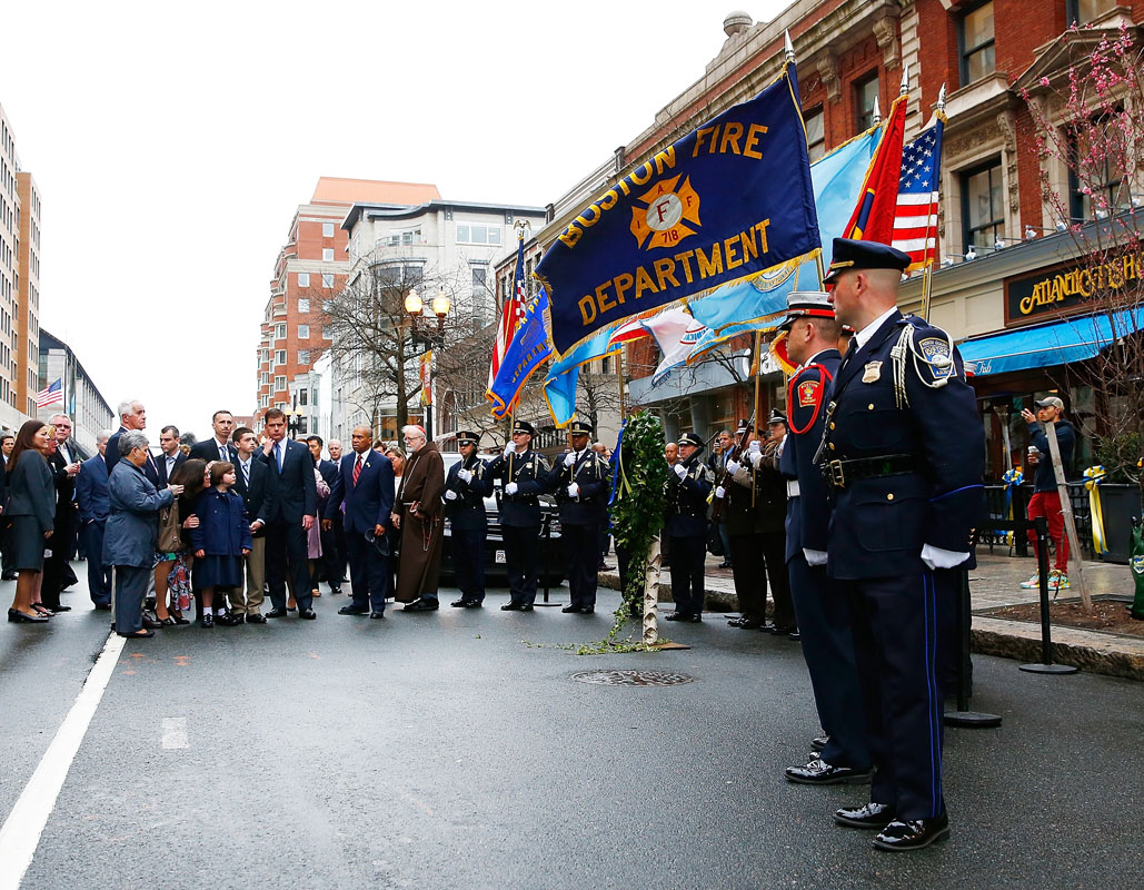 One year after the Boston Marathon bombing, a quiet ceremony