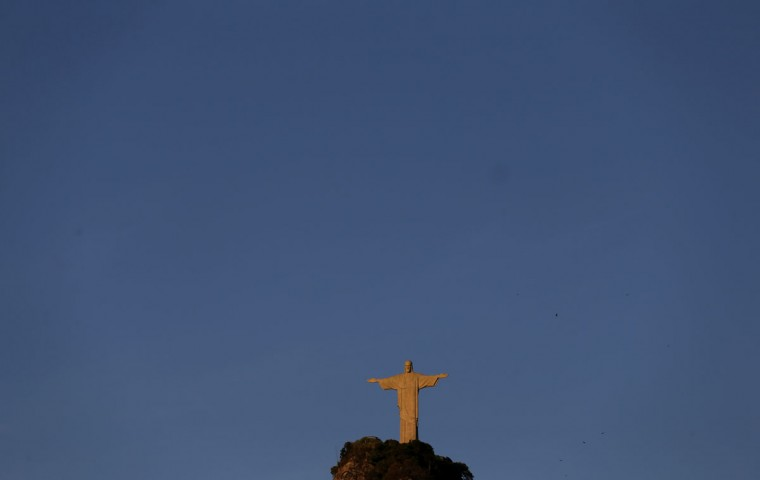 The statue of Christ the Redeemer is seen in Rio de Janeiro on March 11, 2014. (REUTERS/Sergio Moraes)
