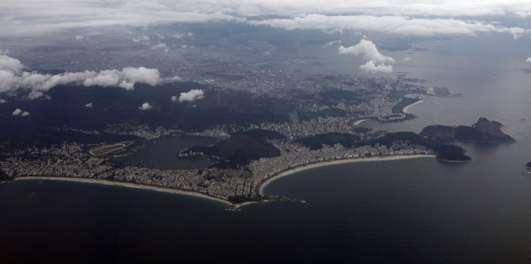 Aerial view of Rio de Janeiro on March 22, 2014. Rio de Janeiro is one of the host cities for the 2014 World Cup in Brazil. (REUTERS/Paulo Whitaker)