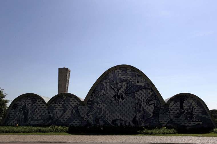 The Sao Fransisco de Assis church is pictured in Belo Horizonte on April 10, 2014. Belo Horizonte is one of the host cities for the 2014 World Cup in Brazil. (REUTERS/Washington Alves)