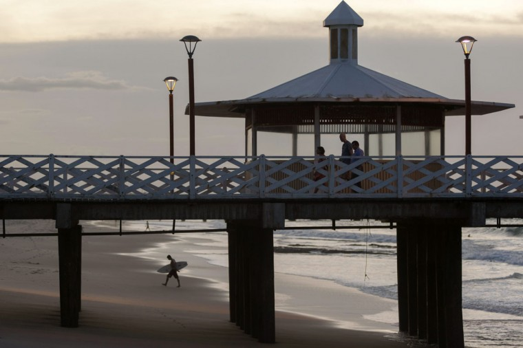 A general view of the British Bridge at Iracema beach in Fortaleza, northeastern Brazil on April 11, 2014. Fortaleza is one of the host cities for the 2014 World Cup in Brazil. (REUTERS/Davi Pinheiro)