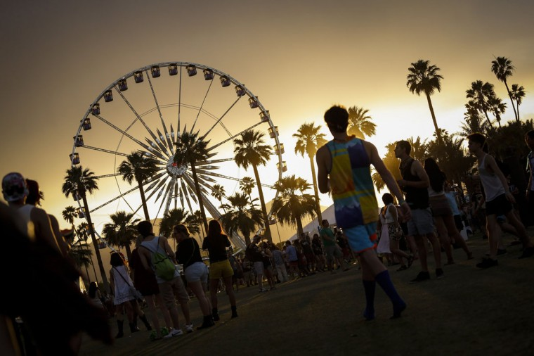 The sun sets on the first day of the second weekend of the Coachella Valley Music and Arts Festival at the Empire Polo Club in Indio, Calif., on Friday, April 18, 2014. (Jay L. Clendenin/Los Angeles Times/MCT)