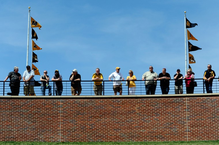 Fans watch the University of Missouri Black & Gold Spring Game at Faurot Field in Columbia, Mo. (Dak Dillon/USA Today Sports)