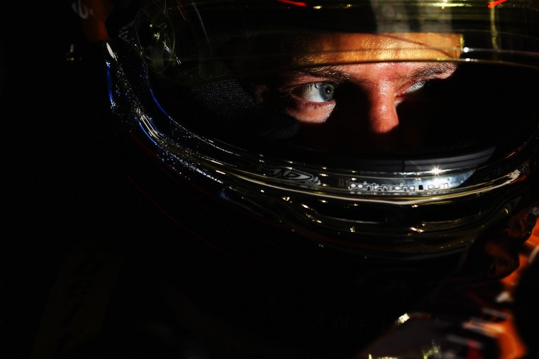 Driver Sebastian Vettel of Germany and Infiniti Red Bull Racing prepares to take the track during qualifying for the Bahrain Formula One Grand Prix at the Bahrain International Circuit in Sakhir, Bahrain. (Mark Thompson/Getty Images)