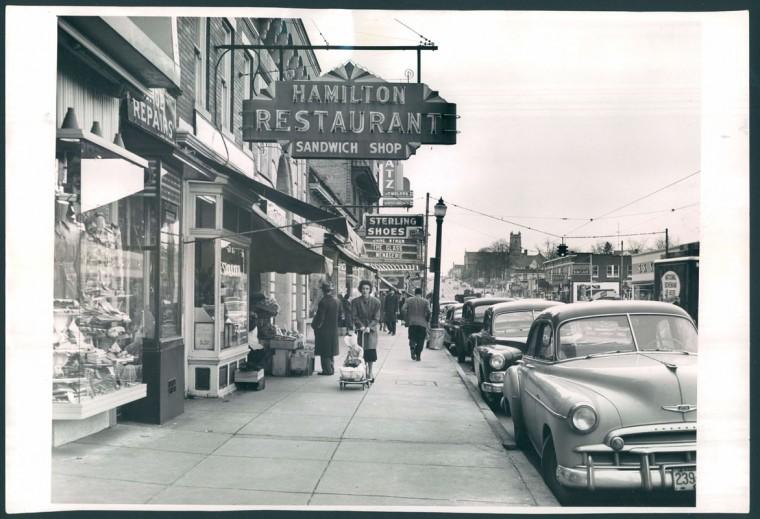 Harford Road, north of Hamilton. Jan. 16, 1951. (Baltimore Sun file)