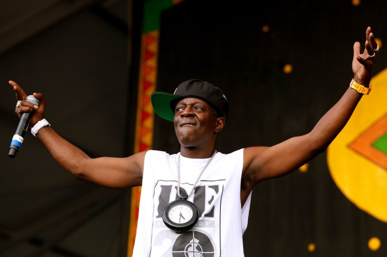 Flavor Flav of Public Enemy performs during the first day of the New Orleans Jazz and Heritage Festival. (REUTERS/Jonathan Bachman)