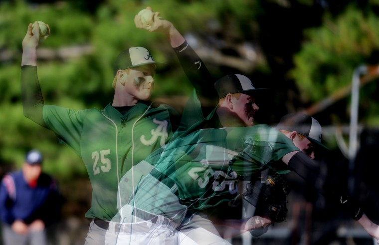 Atholton pitcher Blake James. (Jon Sham/BSMG)
