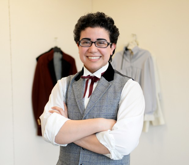 MICA student and Ellicott City native Amadeus Guchhait poses for a photo at his studio in Baltimore on Friday, March 28, 2014. (Jon Sham/BSMG)