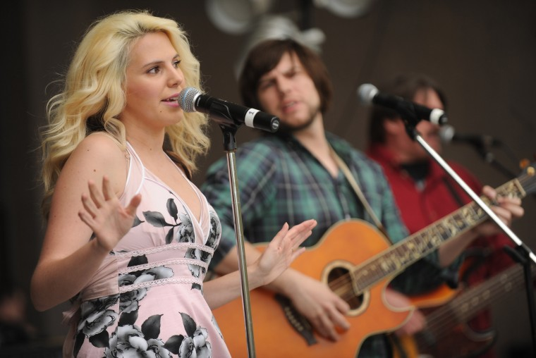 Local country music artist Ashley Forrest of Crofton performs during the Towsontown Spring Festival on Saturday, May 3. (Brian Krista/BSMG)