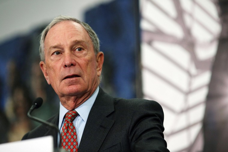 Former New York Mayor Michael Bloomberg speaks at a news conference at the September 11 Memorial Museum before a press tour on May 14, 2014 in New York City. (Spencer Platt/Getty Images)