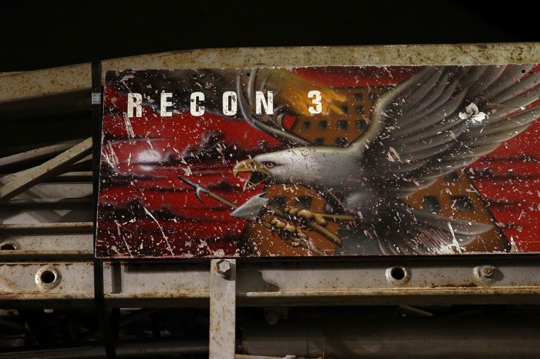 The destroyed Ladder 3 fire truck is viewed during a tour of the National September 11 Memorial Museum on May 14, 2014 in New York City. (Spencer Platt/Getty Images)