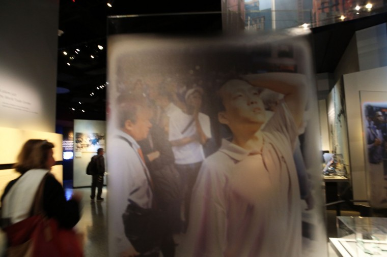 People tour the National September 11 Memorial Museum on May 14, 2014 in New York City. (Spencer Platt/Getty Images)