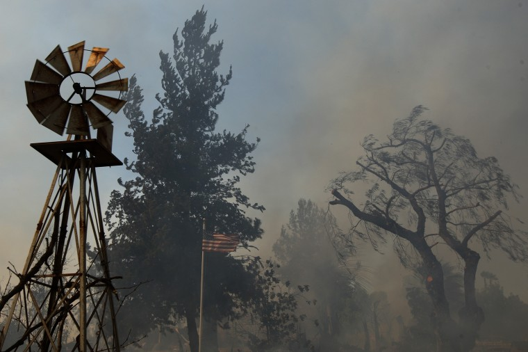 A ranch is left a smoldering ruin by the Cocos fire on May 15, 2014 in San Marcos, California. Fire agencies throughout the state are scrambling to prepare for what is expected to be a dangerous year of wildfires in this third year of extreme drought in California. (Photo by David McNew/Getty Images)
