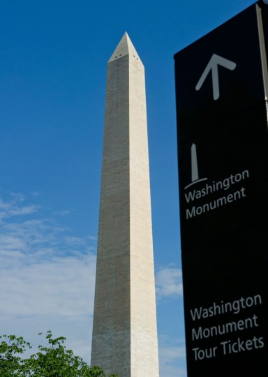 The Washington Monument is seen May 12, 2014. (KAREN BLEIER/AFP/Getty Images)