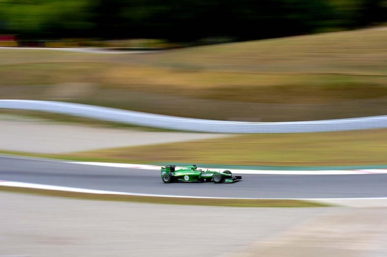 Caterham F1 team's Japanese driver Kamui Kobayashi takes part in the Formula one test days at Catalunya's racetrack in Montmelo, near Barcelona, on May 13, 2014. (Josep Lago/AFP/Getty Images)