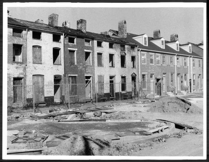 Ridgely's Delight renovation. (Baltimore Sun file/March 19, 1979)
