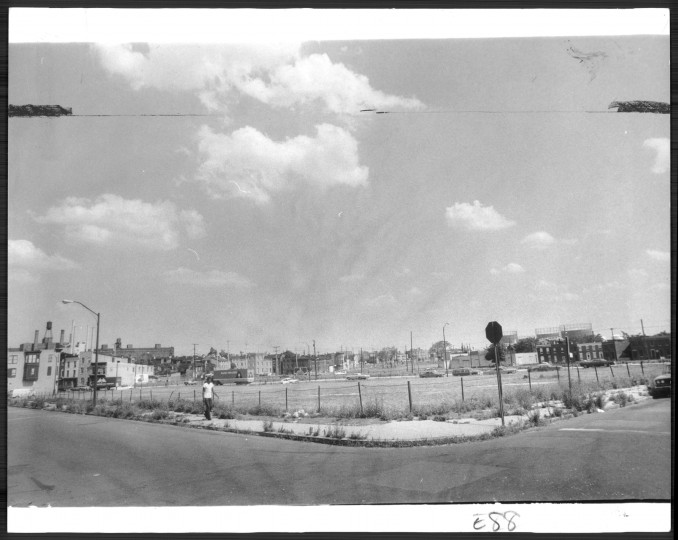 A supermarket was planned for the desolate area in the 700 block of Washington Boulevard. (Baltimore Sun file/July 11, 1976)
