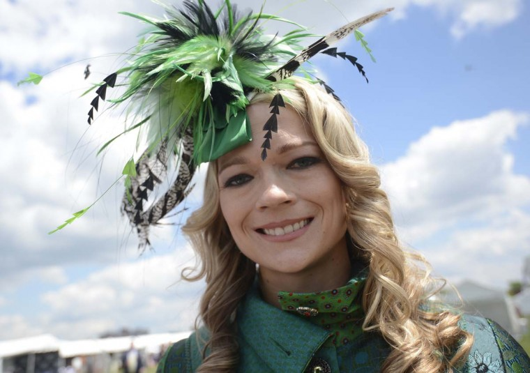 Lacey Johansson Federal Hill wearing a fascinator by Desigual. (Kim Hairston/Baltimore Sun)