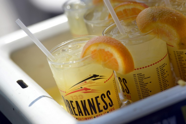 The Black-Eyed Susan, the featured drink of the Preakness, is pictured. (Kim Hairston/Baltimore Sun)