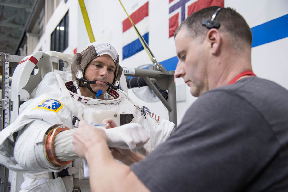 NASA astronaut prepares for launch