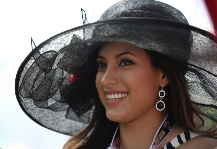 Natasha Martinez of California is pictured in the Preakness Village. (Lloyd Fox/Baltimore Sun)