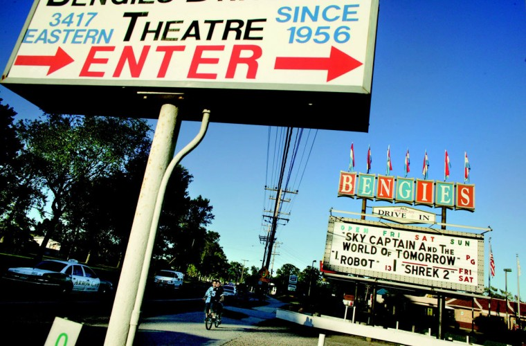 Bengies Drive-In is located about 14 miles east of Baltimore's city center. (Photo by James W. Prichard)