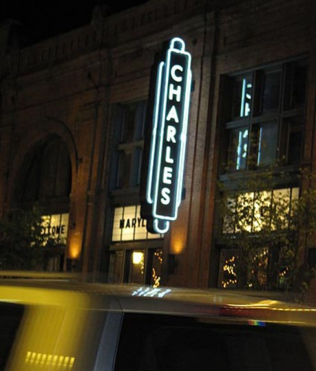 Outside at the Charles Theatre during the 2010 Maryland Film Festival. (Sun photo by Amanda Krotki)
