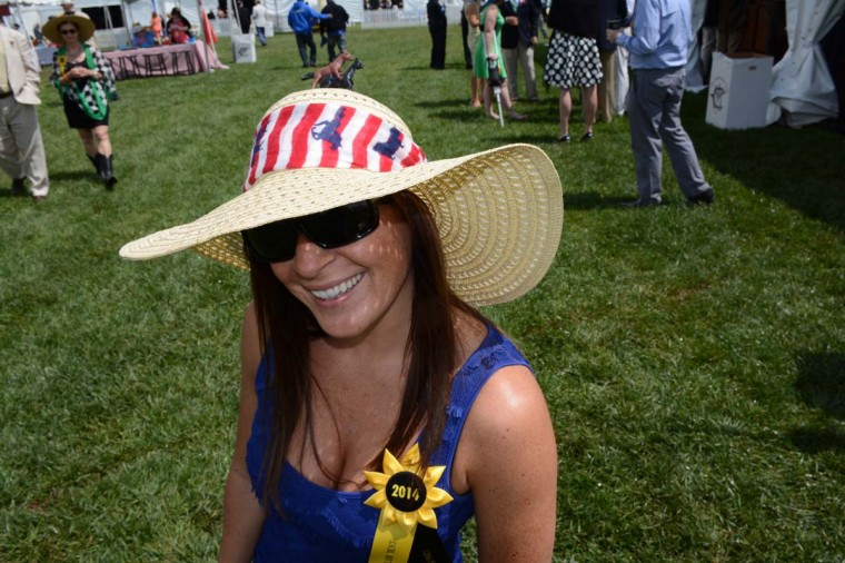 Carina Barton, 31, Milwaukee, Wis., attorney. Her hat came from Francesca's. She added the scarf from Charming Charlies, and horses from Michael's. (Sloane Brown/For the Baltimore Sun)