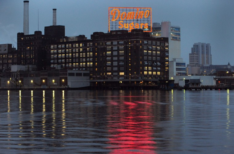 The Domino Sugars landmark sign in 2010. (Sun photo by Gene Sweeney Jr.)