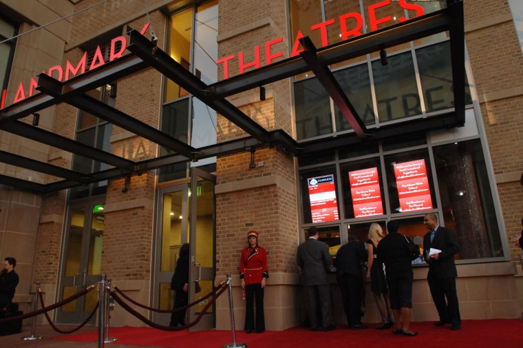 Moviegoers attend an opening night party and screening at the new seven-screen downtown Landmark Theatre in 2007. (Baltimore Sun staff)
