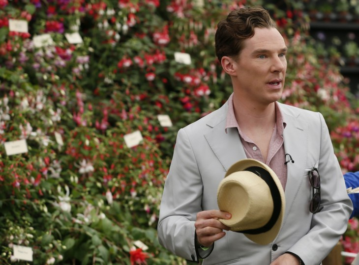 Actor Benedict Cumberbatch attends the media day at the Chelsea Flower Show in London May 19, 2014. (Stefan Wermuth/Reuters)