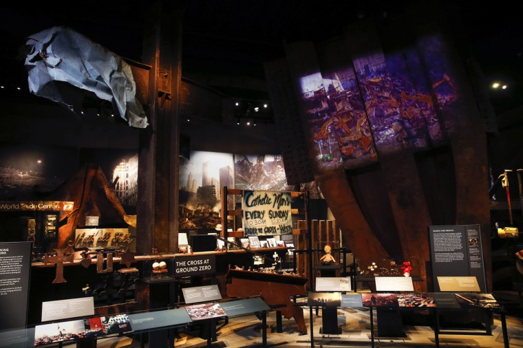 Artifacts of the historical exhibition are seen inside the National September 11 Memorial & Museum during a press preview in New York. (Shannon Stapleton/Reuters)