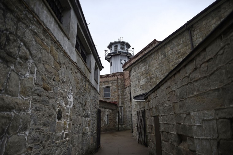The Eastern State Penitentiary central observation tower is seen in Philadelphia. (REUTERS/Mark Makela)