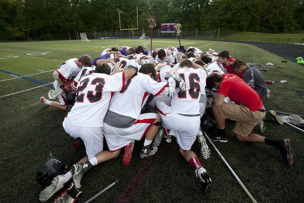 Glenelg gets together before the boys lacrosse 3A/2A state semifinal game against Hereford at Annapolis High School in Annapolis on Friday, May 16. (Jen Rynda, Baltimore Sun Media Group)For more on the Glenelg boys lacrosse program, click here.