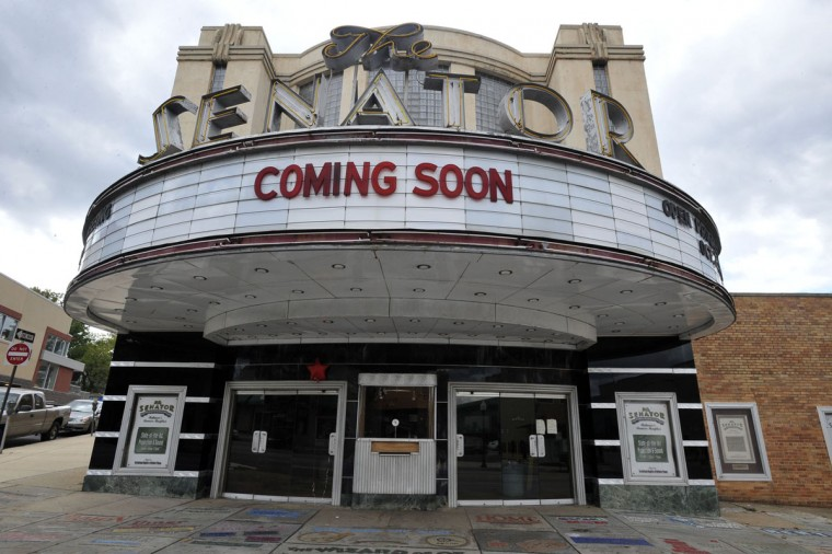 The Senator Theatre as it was being renovated by Buzz Cusack in 2010. (Sun photo by Lloyd Fox)