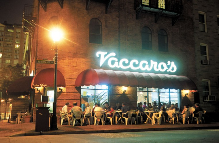 Patrons enjoy ice cream and other desserts in the sidewalk cafe setting of Vaccaro's on a hazy summer night in 2001 in Baltimore's Little Italy. (Sun photo)
