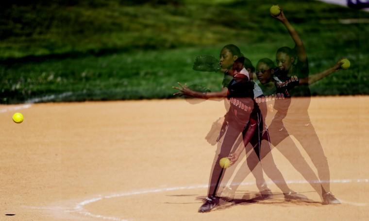 Oakland Mills pitcher Tekelle Evans (Jon Sham/BSMG)