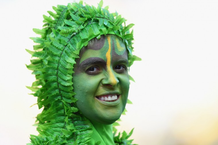 A performer looks on during the Opening Ceremony of the 2014 FIFA World Cup Brazil prior to the Group A match between Brazil and Croatia at Arena de Sao Paulo on June 12, 2014 in Sao Paulo, Brazil. (Buda Mendes/Getty Images)