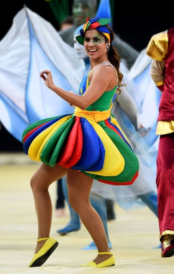 Artists perform during the Opening Ceremony of the 2014 FIFA World Cup Brazil prior to the Group A match between Brazil and Croatia at Arena de Sao Paulo on June 12, 2014 in Sao Paulo, Brazil. ( Christopher Lee/Getty Images)