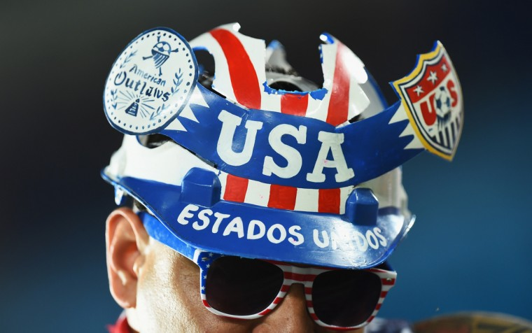 A fan of the United States looks on pior to kickoff during the 2014 FIFA World Cup Brazil Group G match between Ghana and the United States at Estadio das Dunas. (Jamie McDonald/Getty Images)