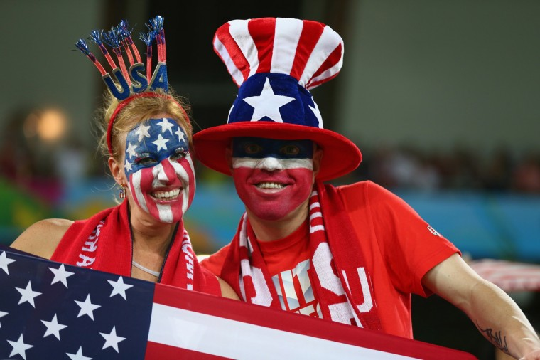 United States fans look on prior to the 2014 FIFA World Cup Brazil Group G match between Ghana and the United States at Estadio das Dunas in Natal, Brazil. (Robert Cianflone/Getty Images)