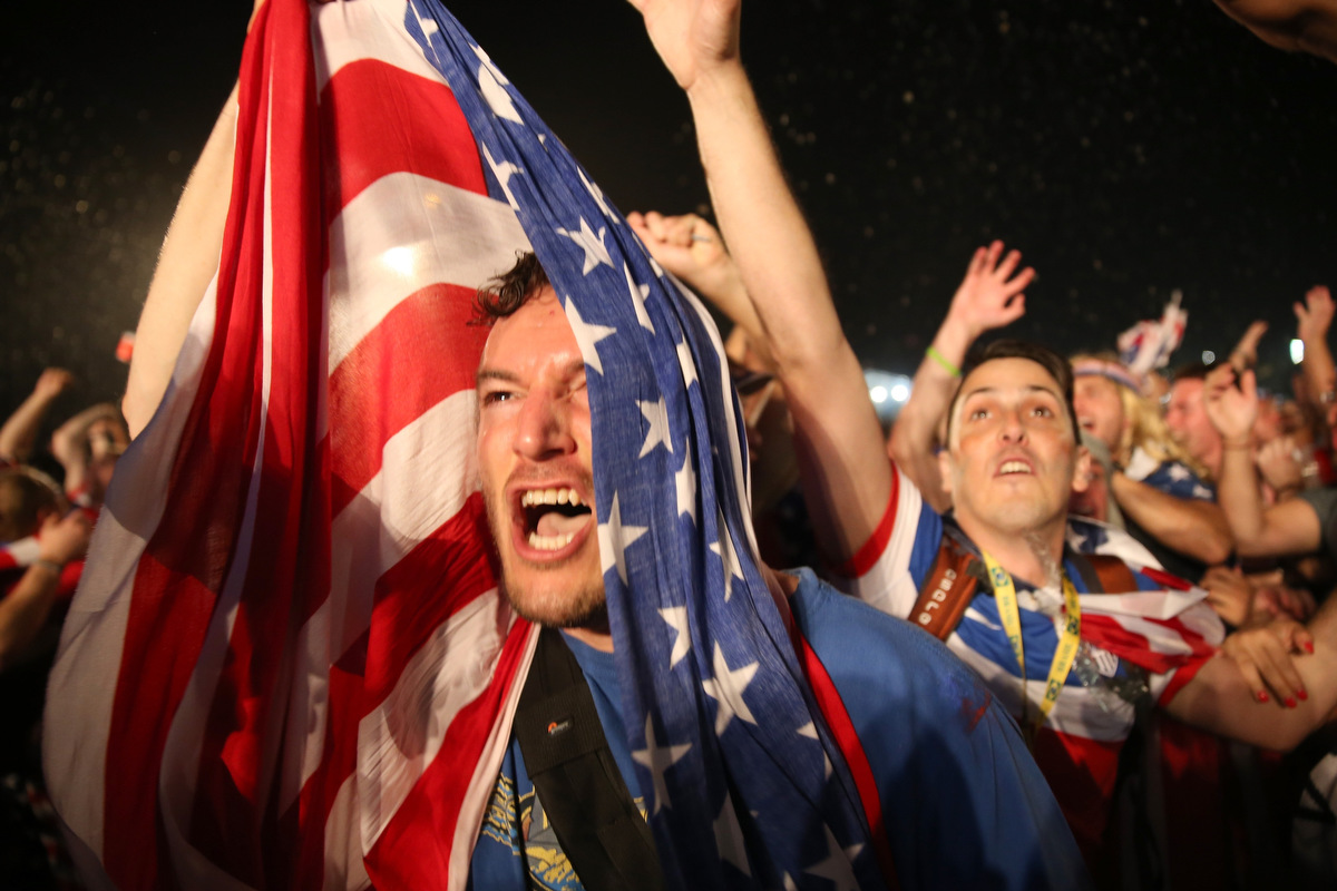 Team U.S.A. fans celebrate FIFA World Cup win over Ghana