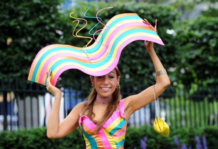 A Racegoer attends Day 2 of Royal Ascot at Ascot Racecourse on in Ascot, England. (Stuart C. Wilson/Getty Images)